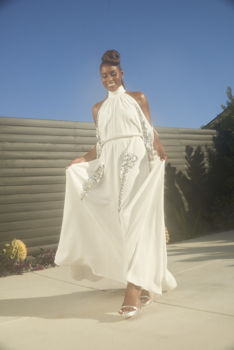 Issa Rae gets ready for the 52nd NAACP Image Awards