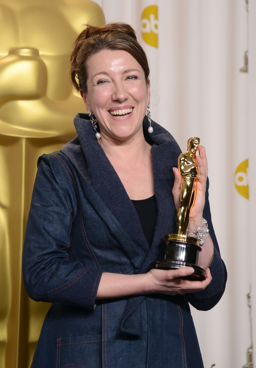 Durran after winning Best Costume Design for 'Anna Karenina' at the 2013 Academy Awards.