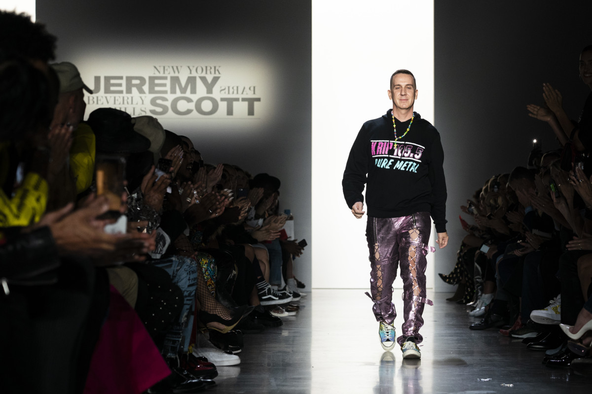 Jeremy Scott at his Spring 2020 runway show.
