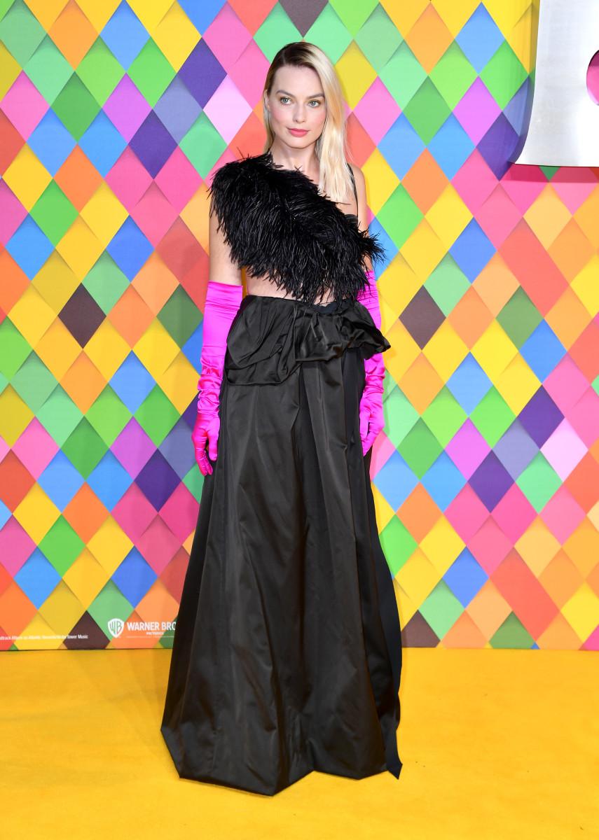 Margot Robbie in Dries Van Noten at the London premiere of 'Birds of Prey.'