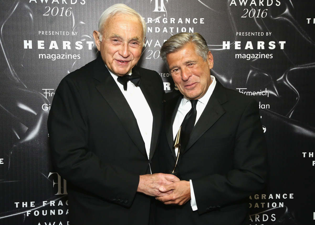 Les Wexner (left) with Ed Razek in 2016.