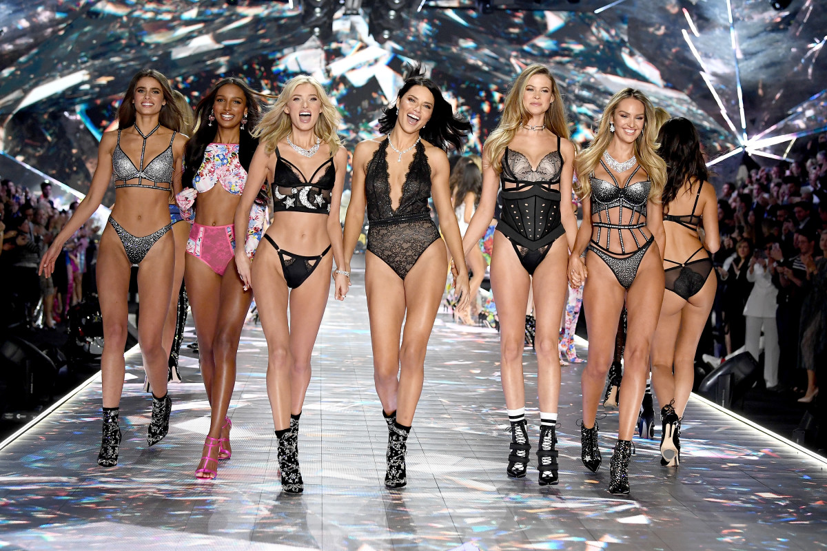 The brand's Angels on the Victoria's Secret Fashion Show runway in 2018.