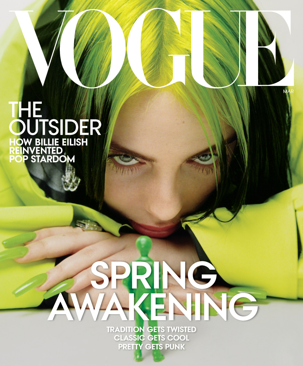 Billie Eilish on the cover of American 'Vogue'.