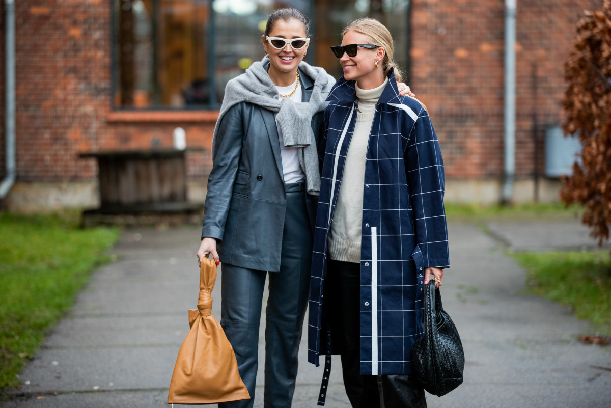 On the street at Copenhagen Fashion Week Fall 2020.