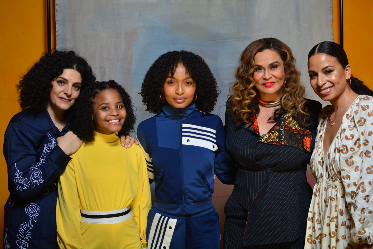 Céline Semaan, Mari Copeny, Yara Shahidi, Tina Knowles and Jasmine Solano at Study Hall's latest conference.