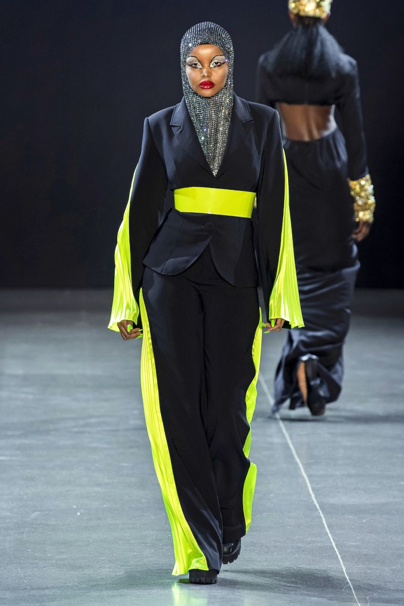 A look from Christian Cowan's Fall 2019 collection.