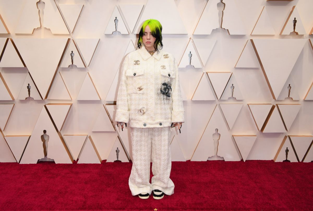 Billie Eilish in Chanel at the 92nd Academy Awards.