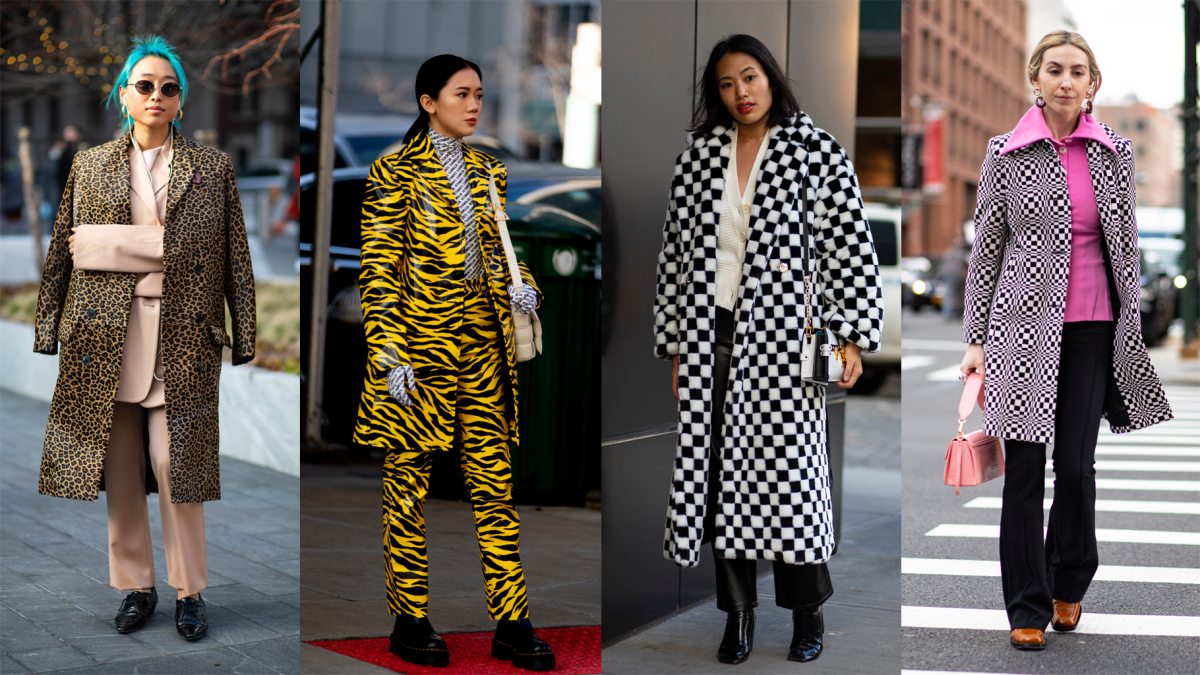 On the street at New York Fashion Week Fall 2020.