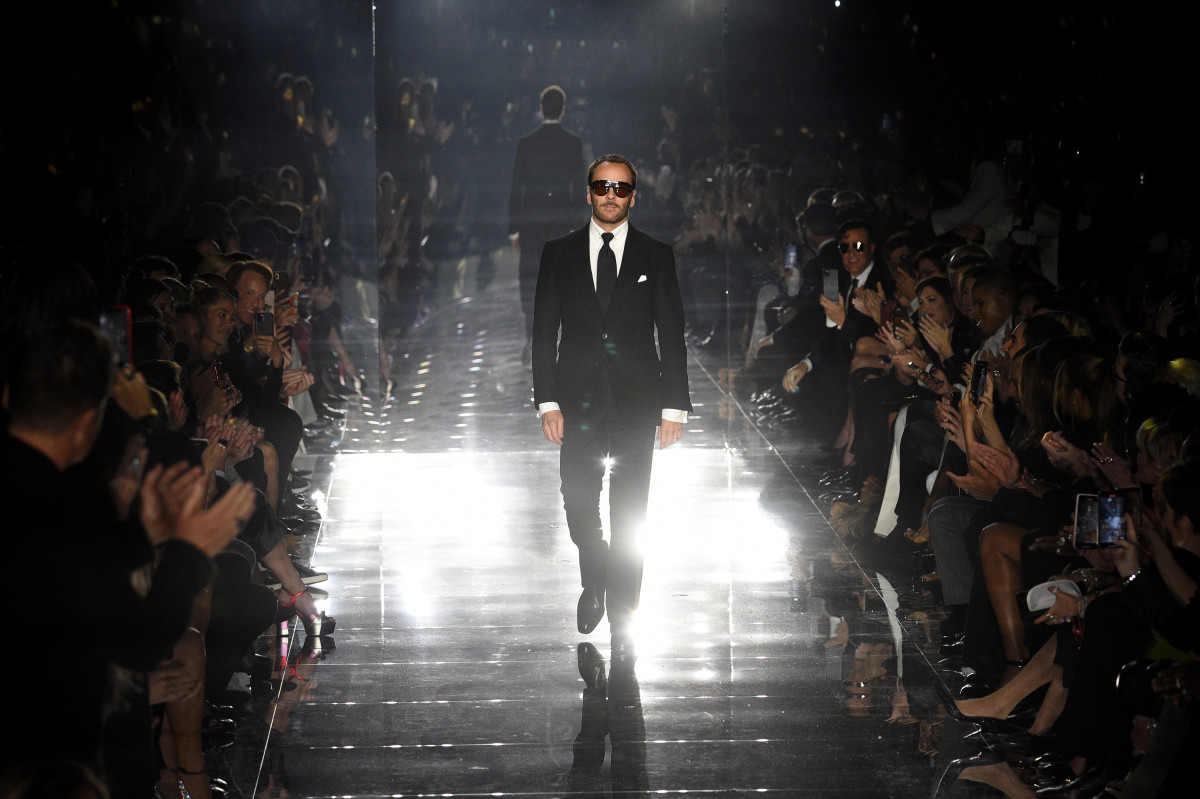 Tom Ford on his Los Angeles runway.
