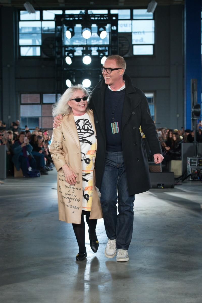 Debbie Harry with Stuart Vevers.