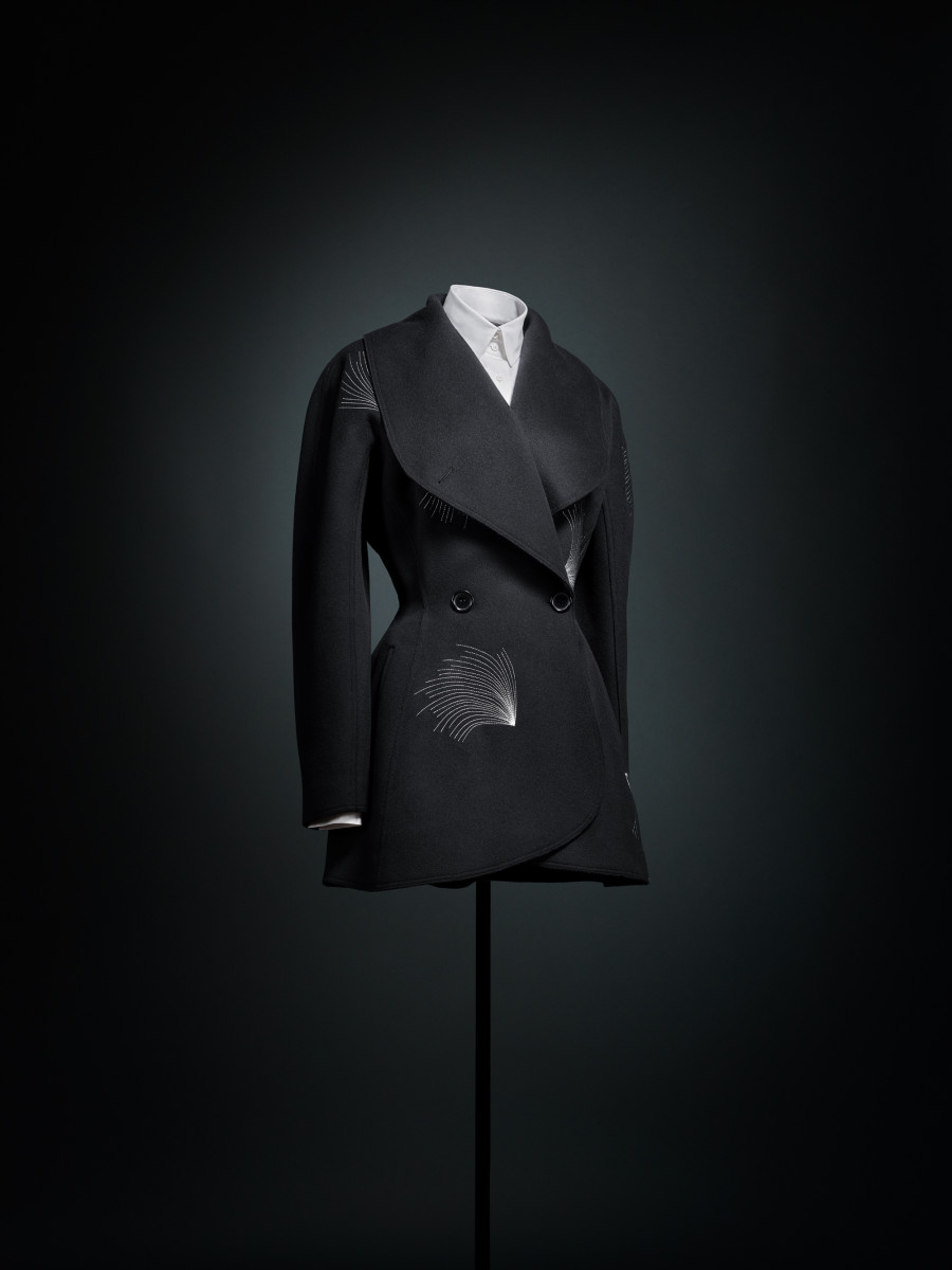 A jacket from the Azzedine Alaïa Winter 1986 collection in 'Alaïa-Adrian: Masters of Cut.'