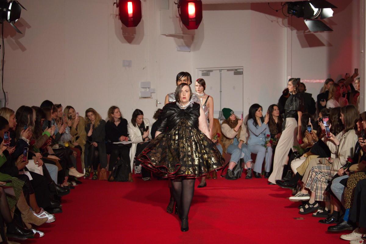 Lena Dunham led the finale at 16Arlington's Fall 2020 show during London Fashion Week.