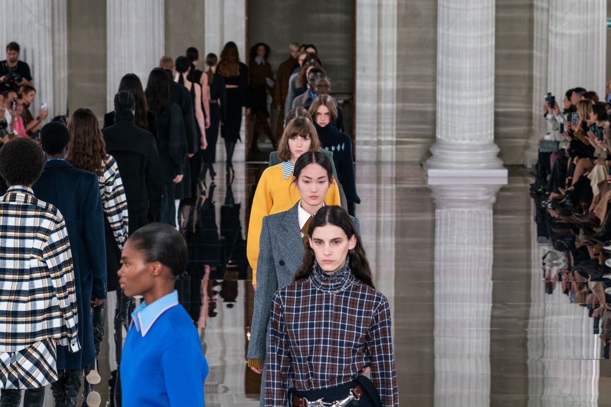 Looks from the Victoria Beckham Fall 2020 collection.