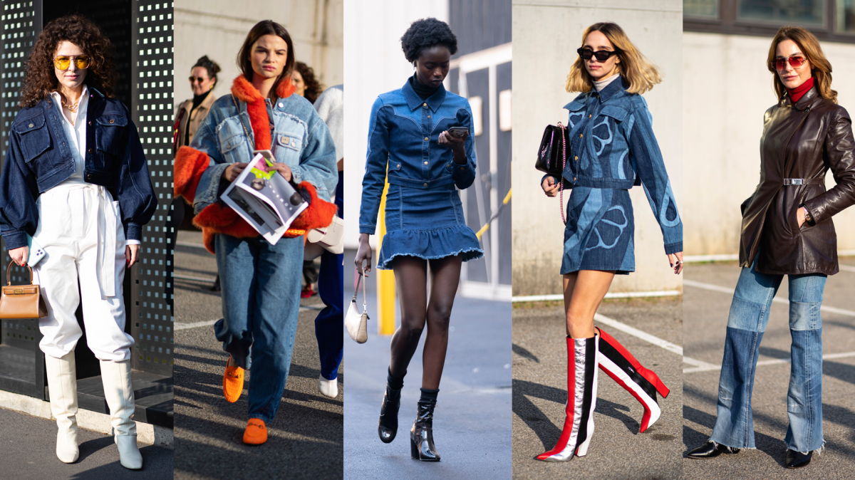 On the street at Milan Fashion Week 2020.