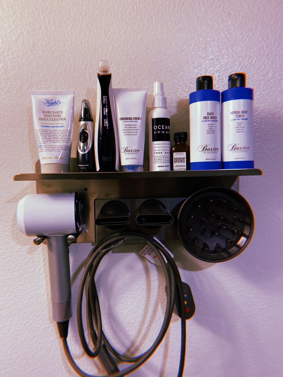 A selection of Joey's grooming products.