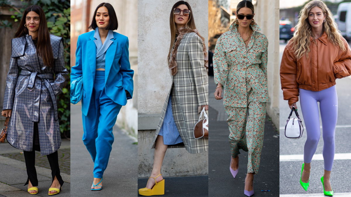 On the street at Milan Fashion Week Fall 2020.