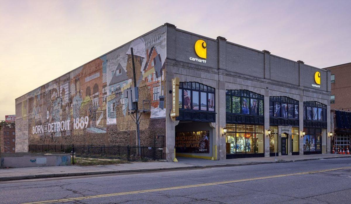 A principal loja da Carhartt em Detroit.