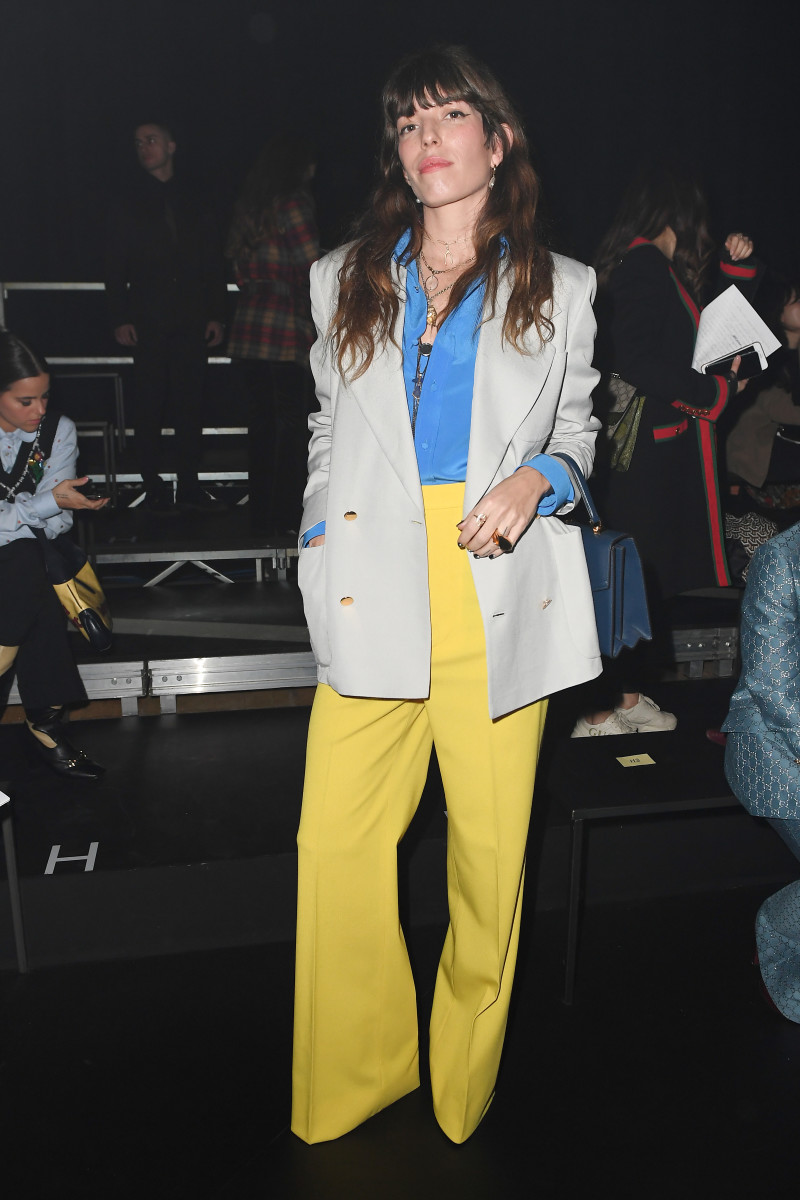 Lou Doillon bei Guccis Herbst 2020 Show.