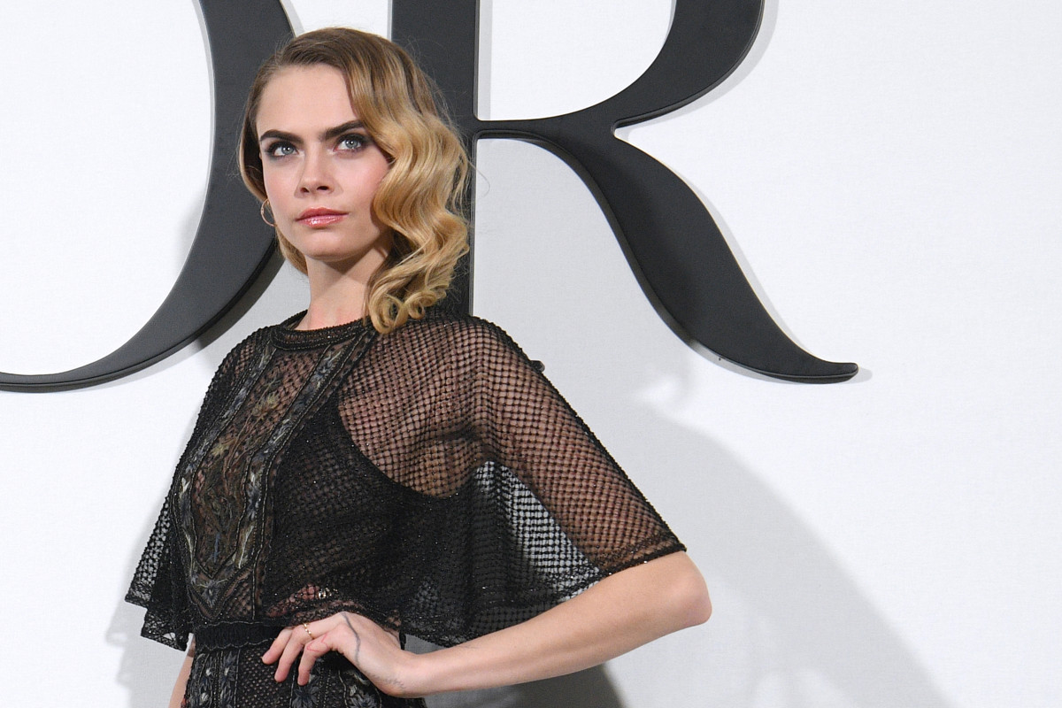 Cara Delevingne at Dior's Fall 2020 show.