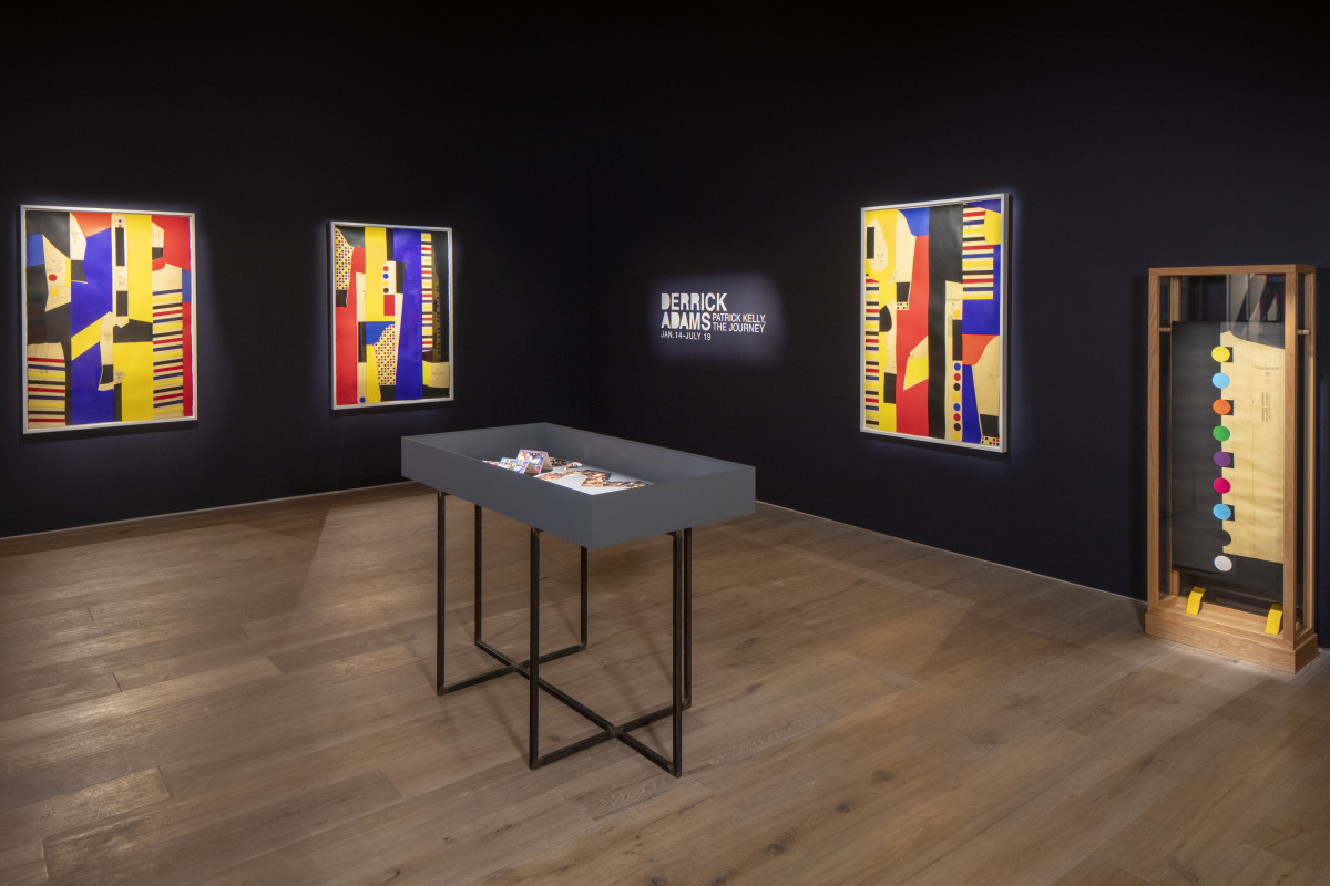 A room in Derrick Adams's new exhibit at SCAD.