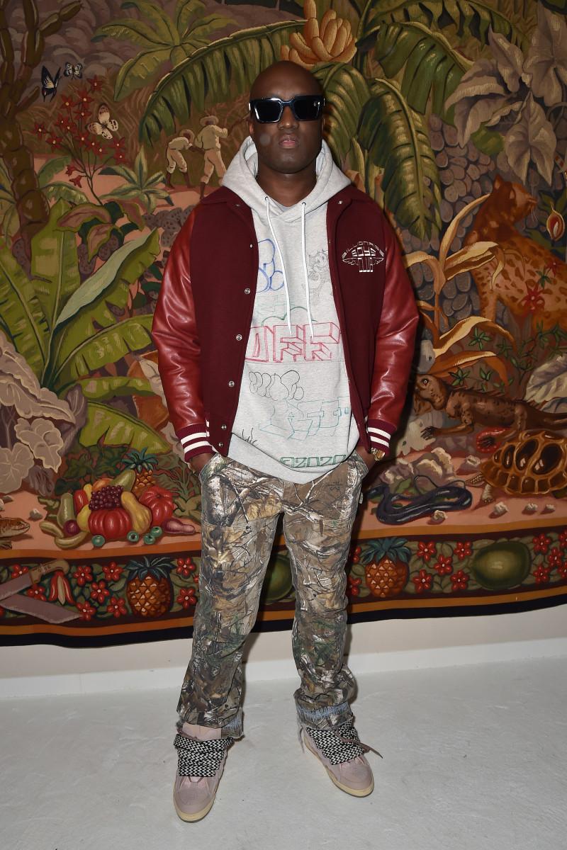 Virgil Abloh at Lanvin's Paris Fashion Week Show
