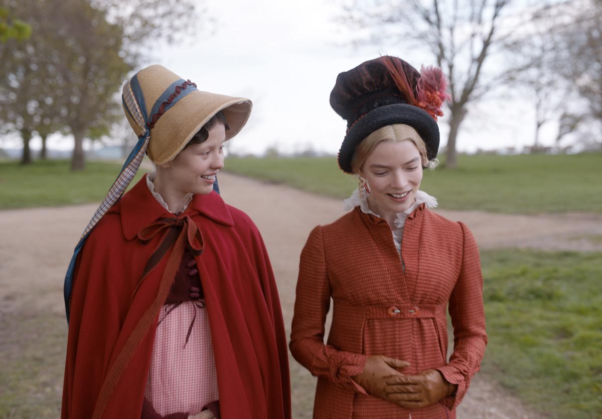 Outerwear contrast between Harriet and Emma.