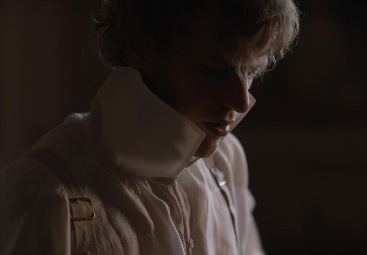 Mr. Knightley, half-dressed.
