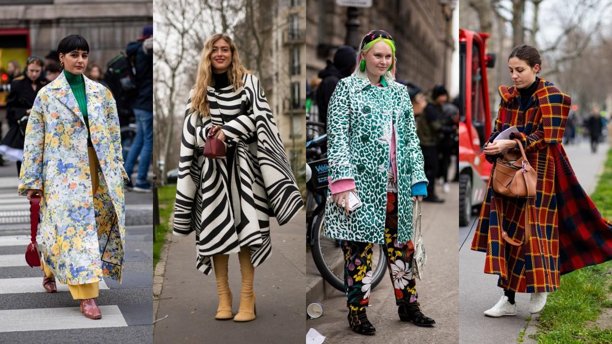 Auf der Straße bei der Paris Fashion Week.