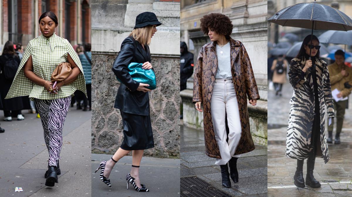 On the street at Paris Fashion Week Fall 2020.