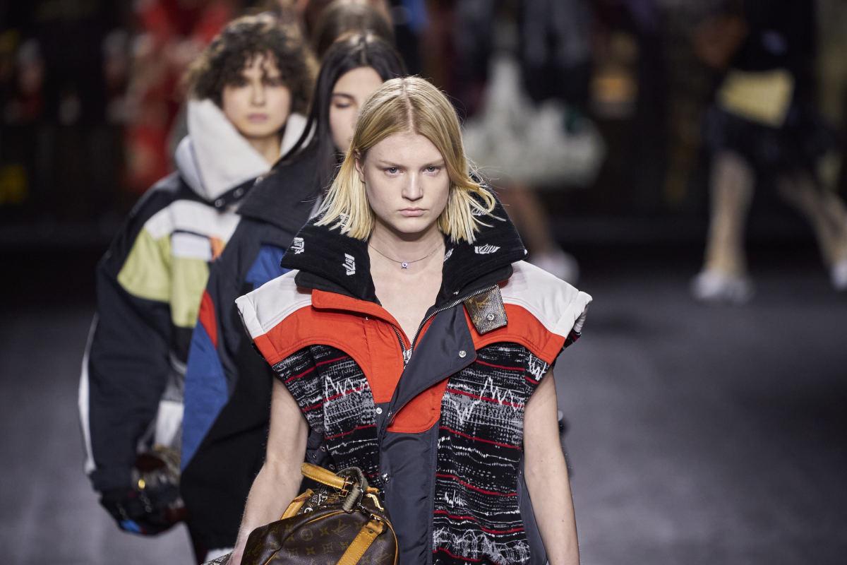 O final do desfile Louis Vuitton Fall 2020.