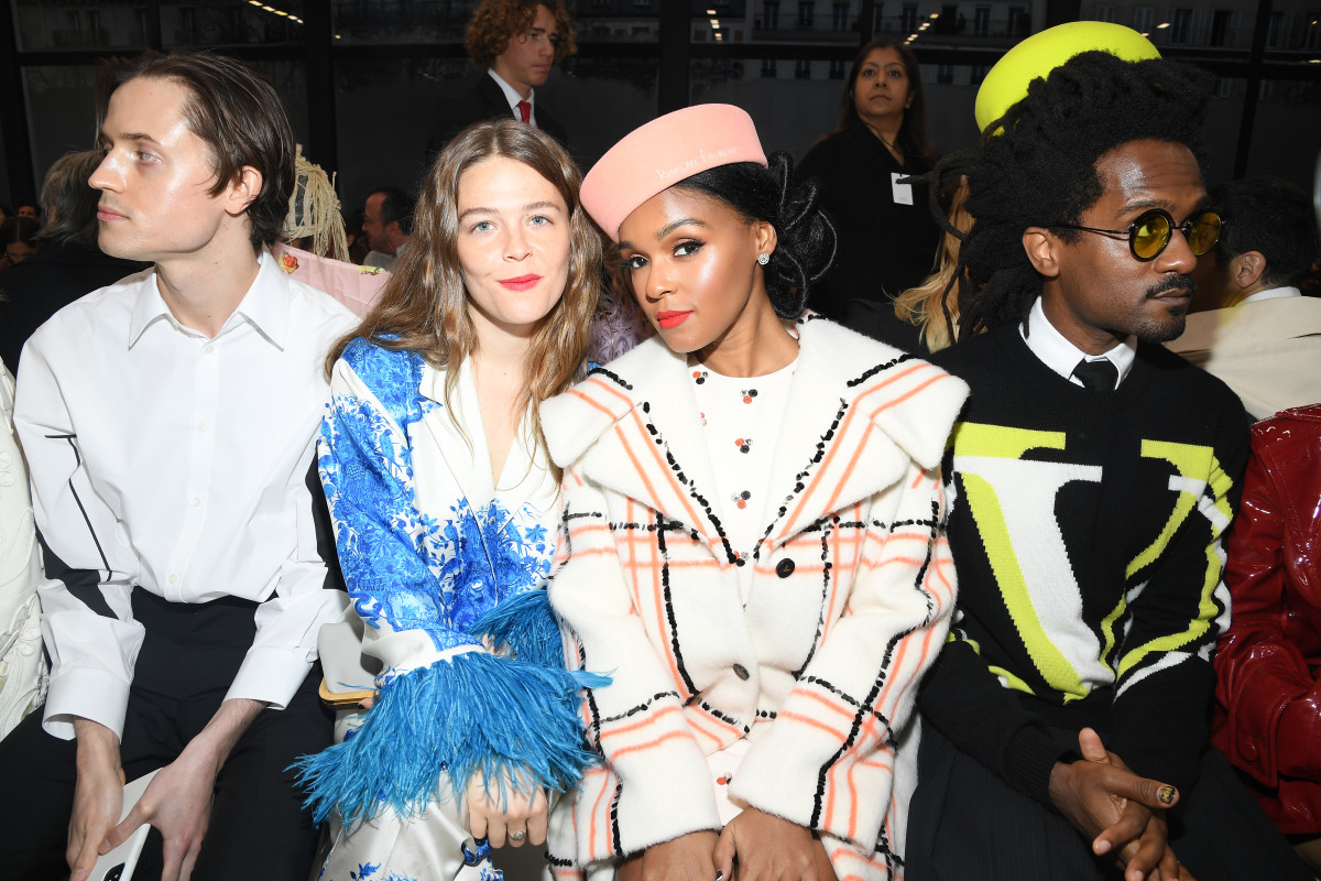 Maggie Rogers and Janelle Monáe at Valentino's Fall 2020 show.