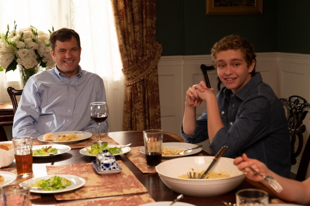 Bill (Joshua Jackson) and youngest son Moody (Gavin Lewis).