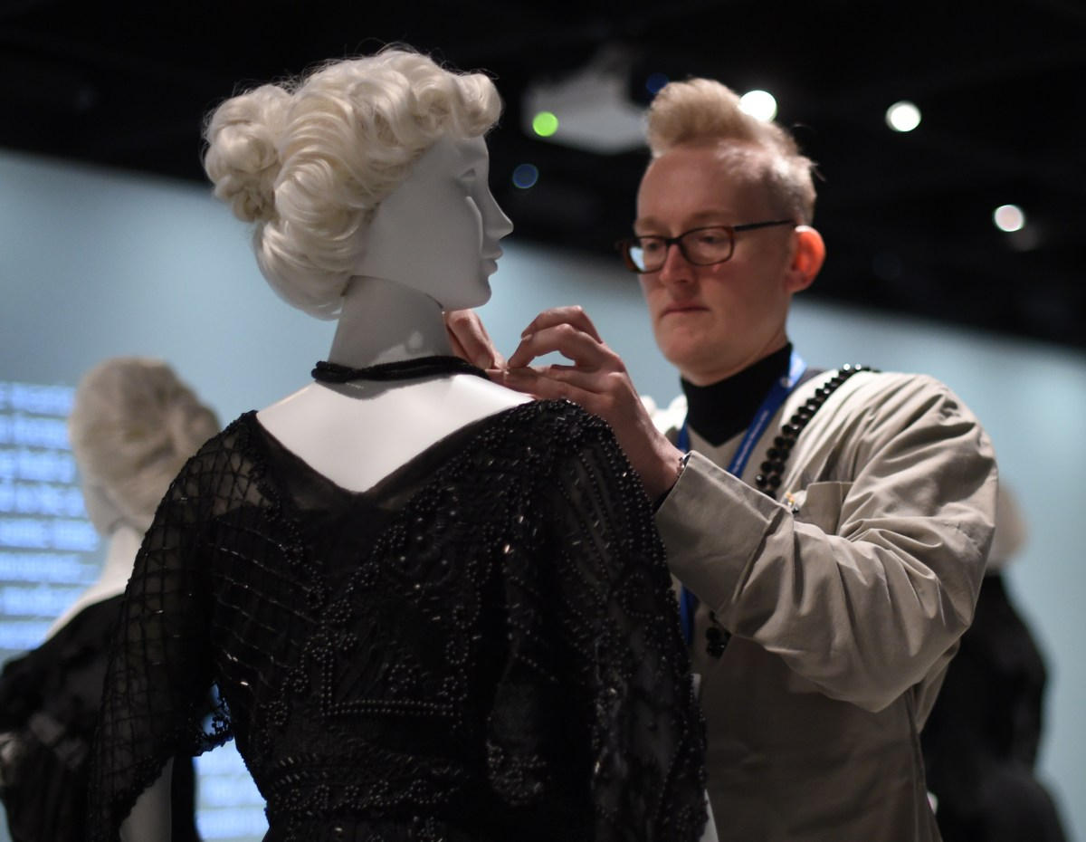 A Costume Institute conservator at the Metropolitan Museum of Art.