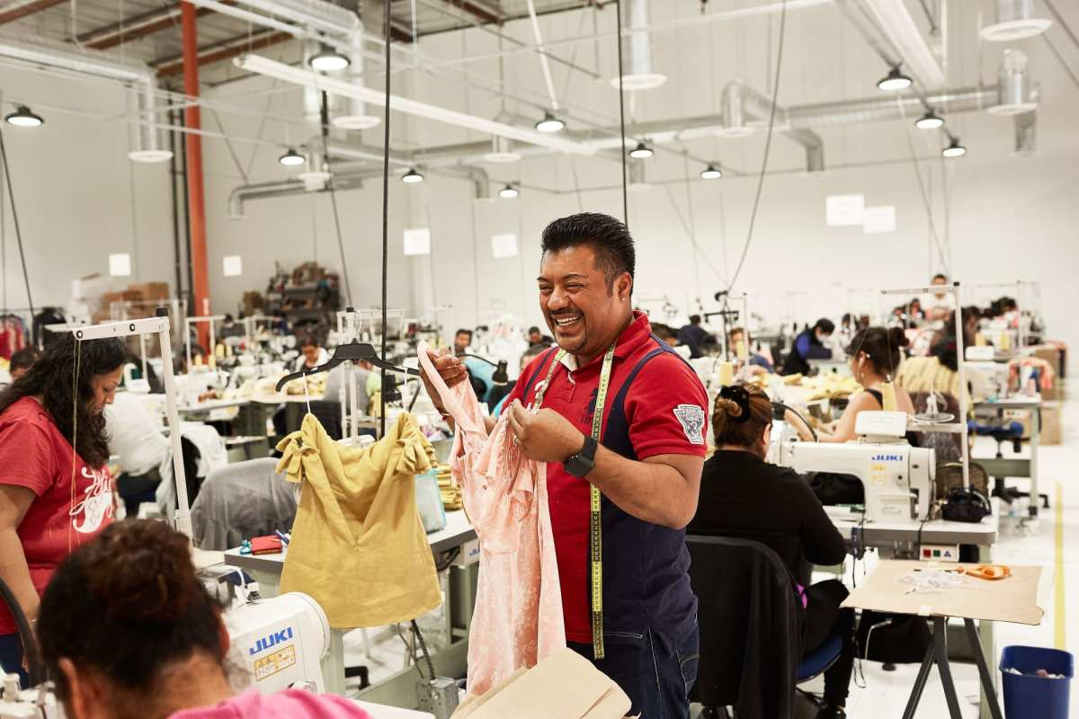 Inside Reformation's Los Angeles factory.