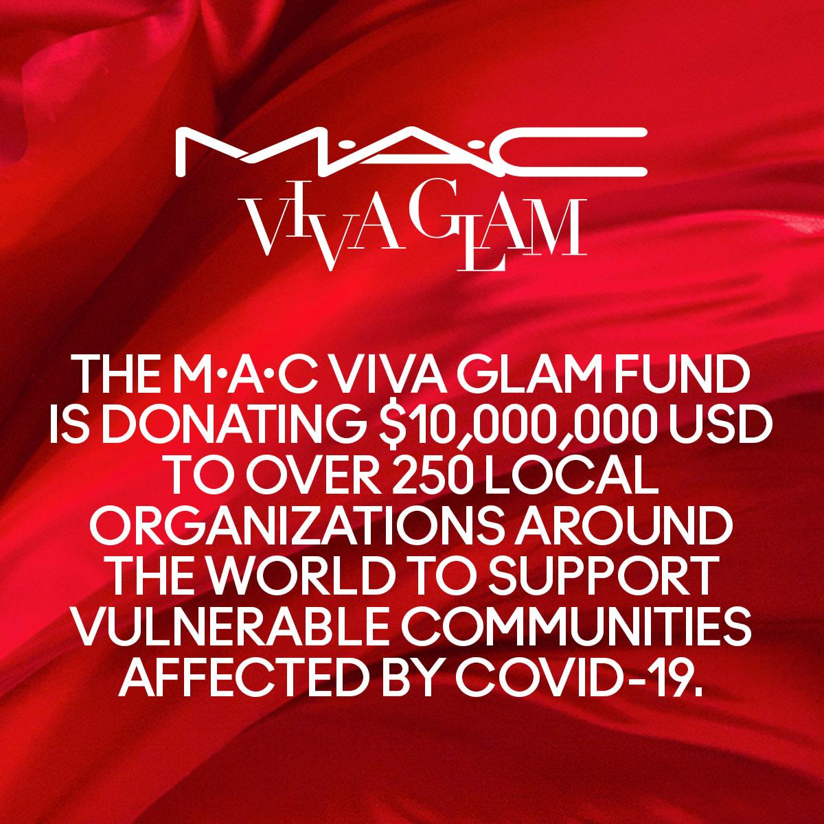 Mac Viva Glam Covid-19 Relief Fund Announcement