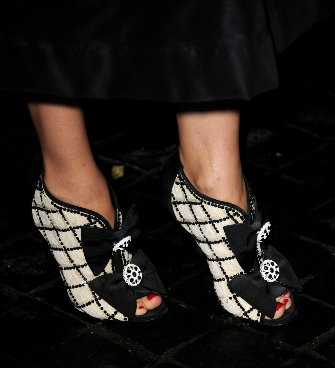 Diane Kruger's bow-bedecked Chanel shoes from the Spring 2009 collection.