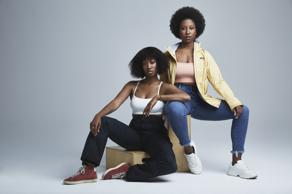 Dominique Drakeford and Whitney McGuire of Sustainable Brooklyn wearing Fair Trade.