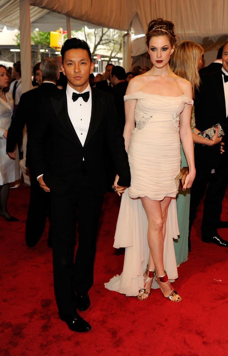 Gurung with Elettra Wiedemann at the 2011 'Alexander McQueen: Savage Beauty' Met Gala.