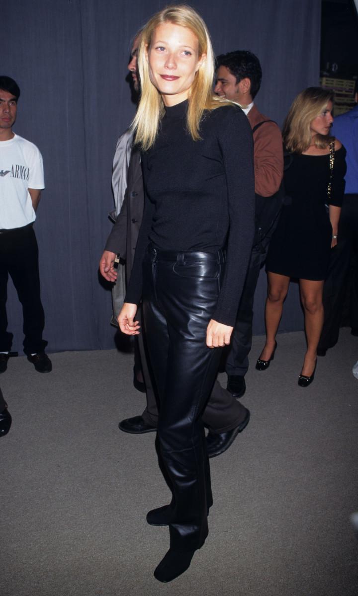 Gwyneth Paltrow auf einer Giorgio Armani Party 1996.