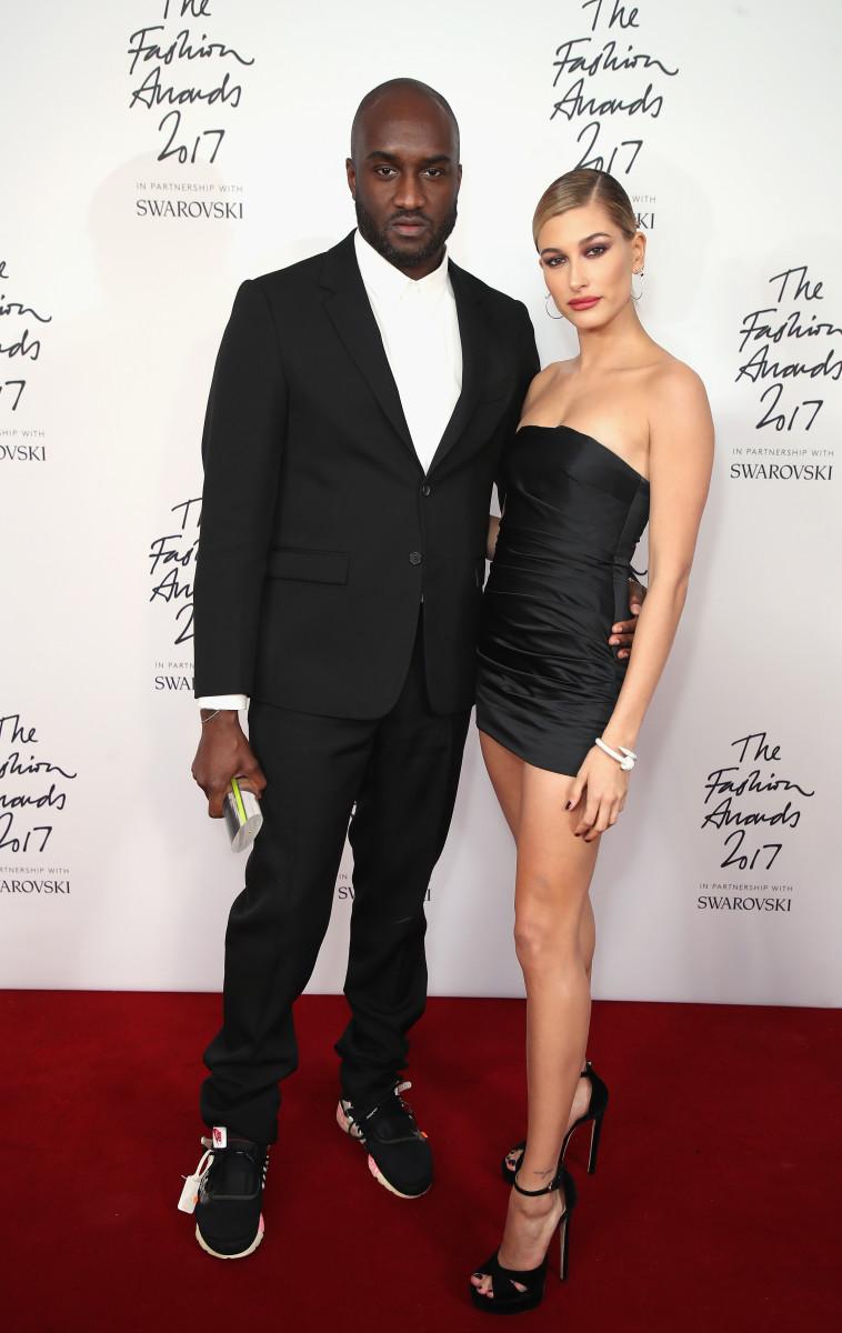 fashion Virgil Abloh and Hailey Bieber.