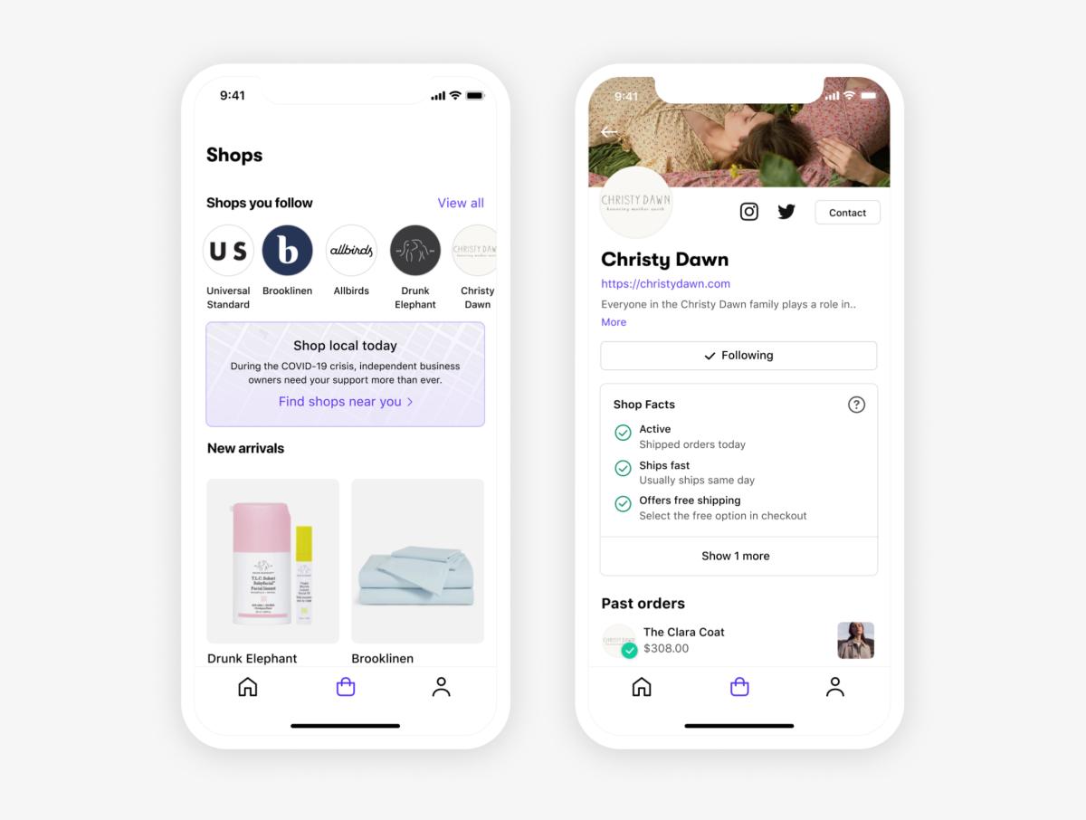 Novo aplicativo Shopify da Shopify.