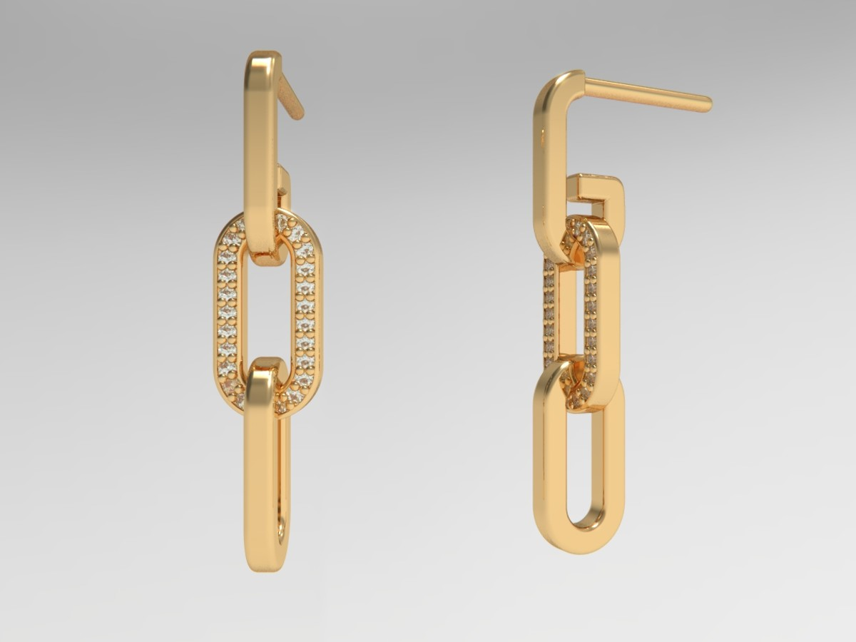 The Chain Triple Chain Link Earring With Diamonds, $149-$399, available here.