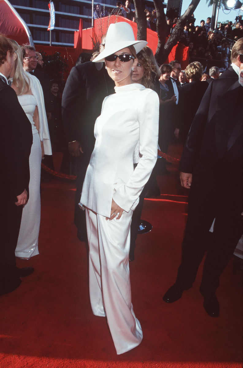 Céline Dion in Dior von John Galliano bei den 71. Academy Awards 1999.