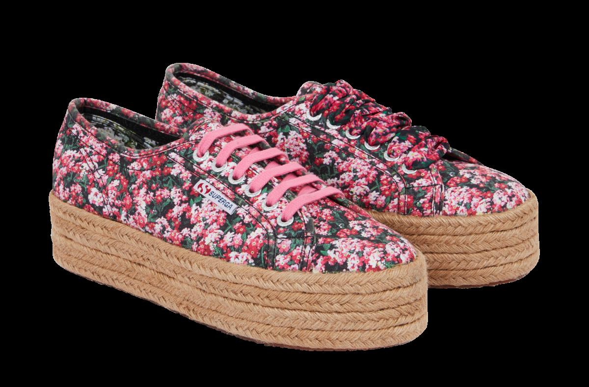 Shoes from the Superga x Mary Katrantzou capsule.