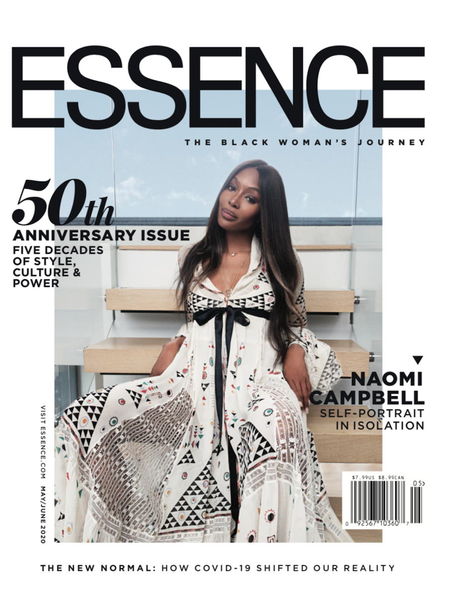 naomi campbell essence cover 50th anniversary