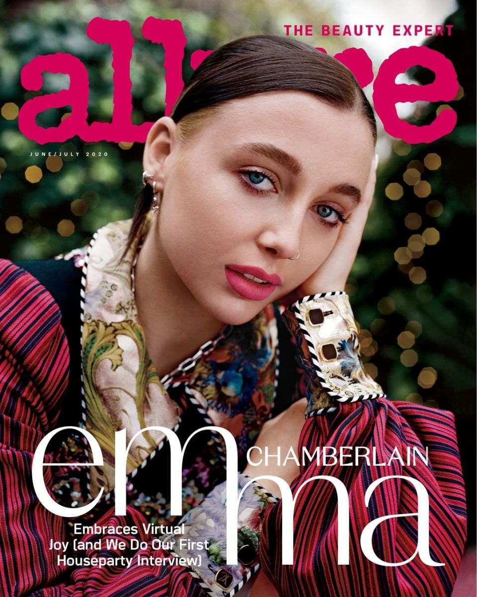 "Emma Chamberlain on the June/July cover of ""Allure."""