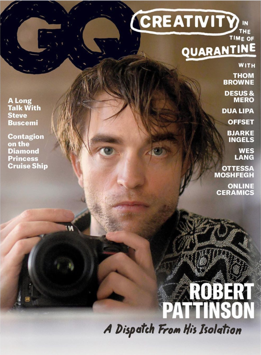 auto-retrato de robert pattinson capa para gq