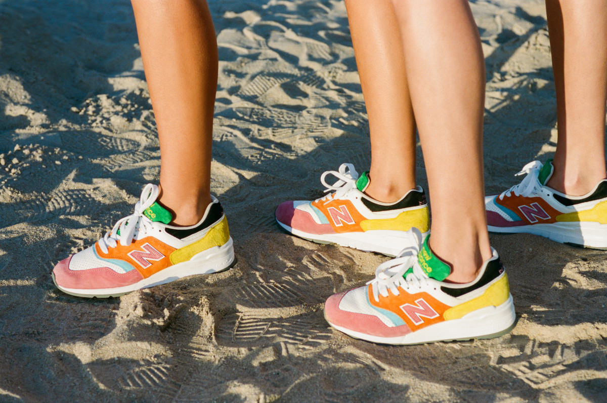 Shoes from Staud's collaboration with New Balance.