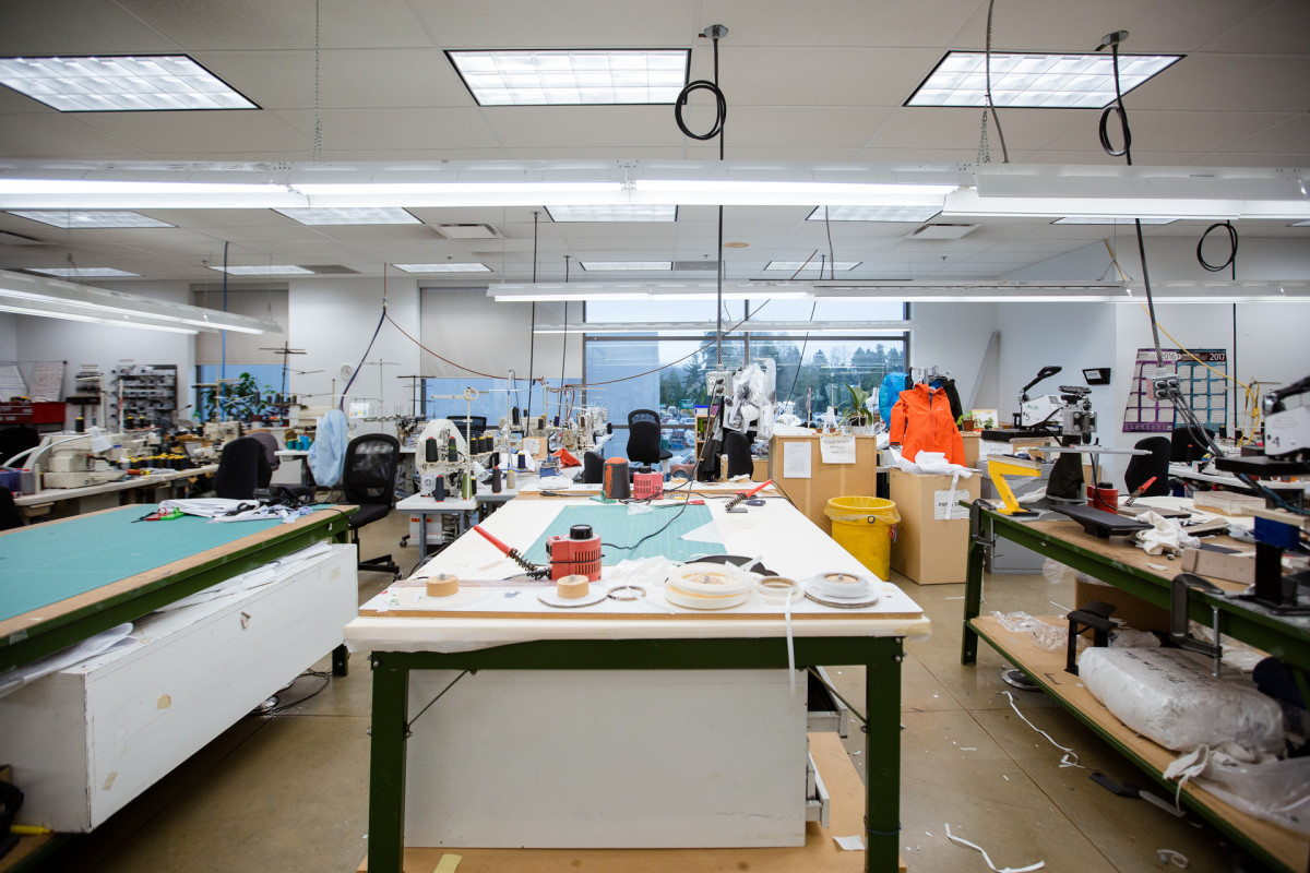 Arc'teryx's design center in North Vancouver, Canada.