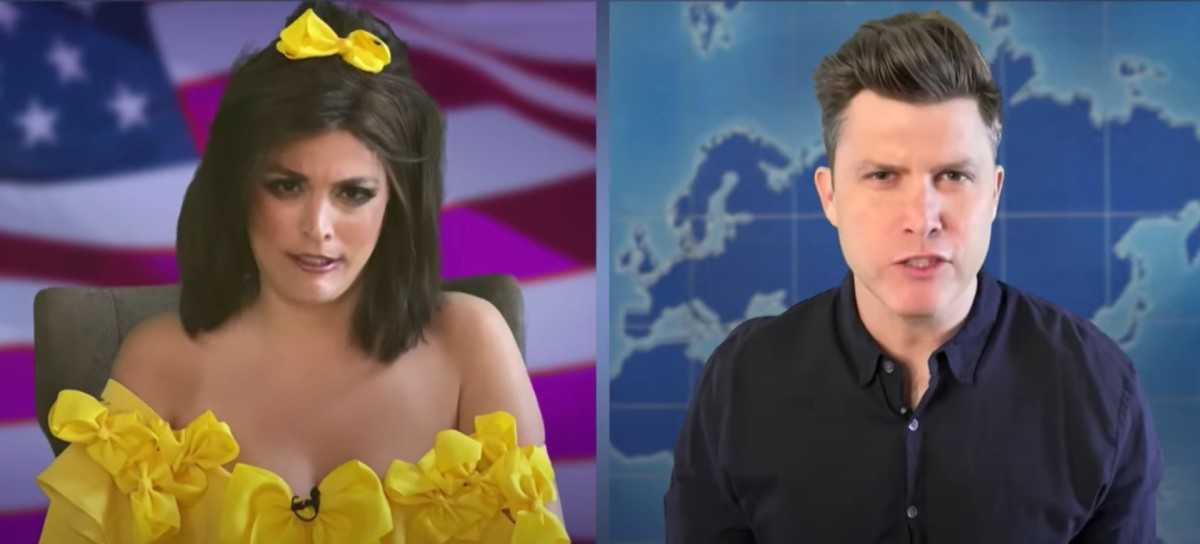 Cecily Strong as Jeannine Pirro on Weekend Update with Colin Jost on 'Saturday Night Live at Home'